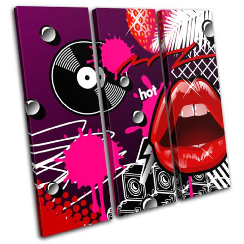Lips Funky Vinyl Illustration - 13-1335(00B)-TR11-LO